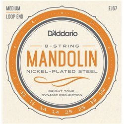 Daddario Strängset Mandolin Nickel 011-039 Medium EJ67