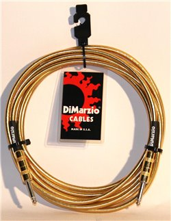 DiMarzio Instrumentkabel Braided 4,5 m. Gold Metallic EP1715SSGM