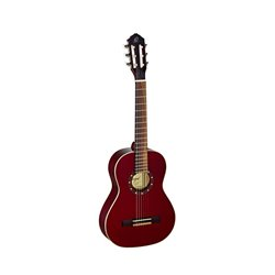 Ortega Klassisk gitarr 1/2 Size, Gloss Wine Red R121-1/2WR