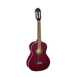 Ortega Klassisk gitarr 3/4 Size, Gloss Wine Red R121-3/4WR
