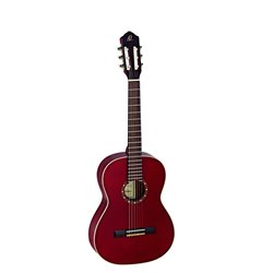 Ortega Klassisk gitarr 7/8 Size, Gloss Wine Red R121-7/8WR