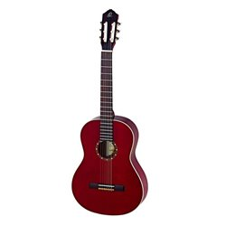 Ortega Klassisk gitarr 4/4 Size, Left, Gloss Wine Red R121LWR